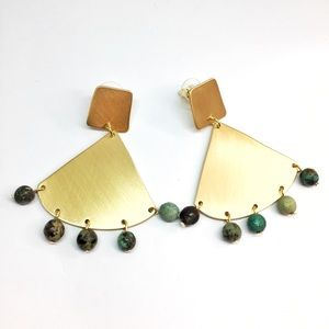 NWT Anthropologie stone earrings